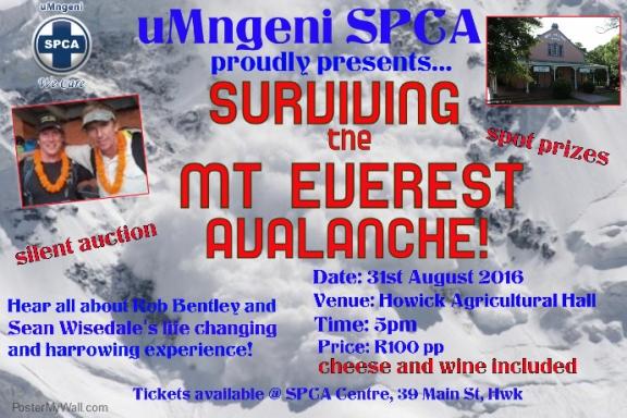 SPCA Talk – Surviving The Mt Everest Avalanche