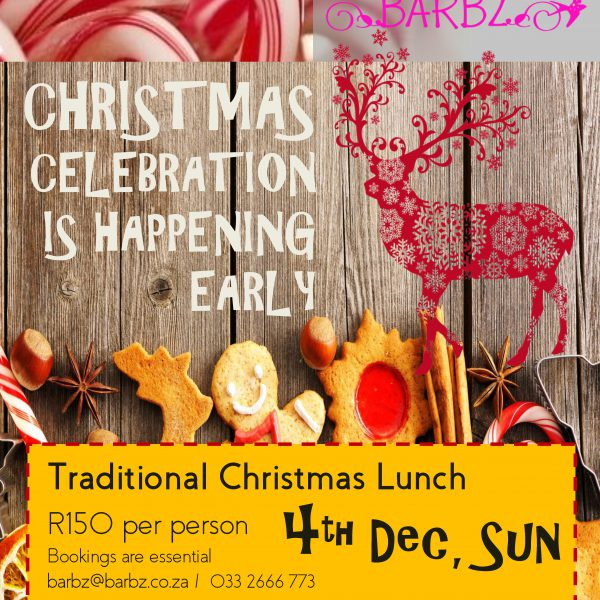 Barbz Cafe – Traditional Christmas Lunch
